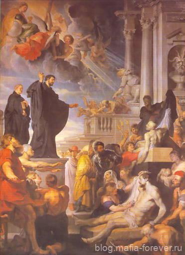 Святой Франциск, проповедуюший в Лидии