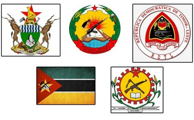 Гербы и флаги Мозамбика, Зимбабве и Буркина-Фасо