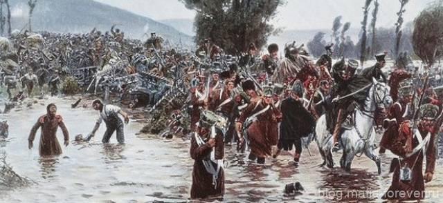 Рихард Кнётель «Битва на Кацбахе 26 августа 1813 года - бегство французов через переправу