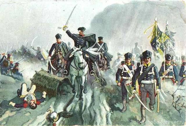 Генерал Блюхер в сражении при Кацбахе 26 августа 1813 года (почтовая открытка)