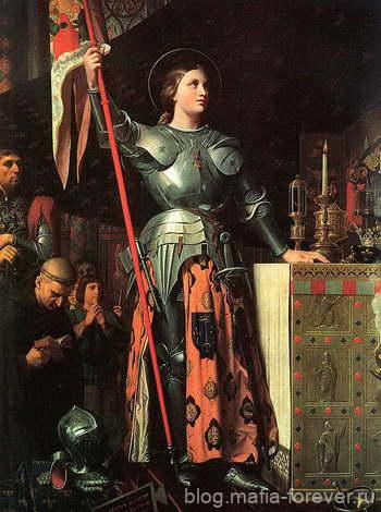 Жанна на коронации