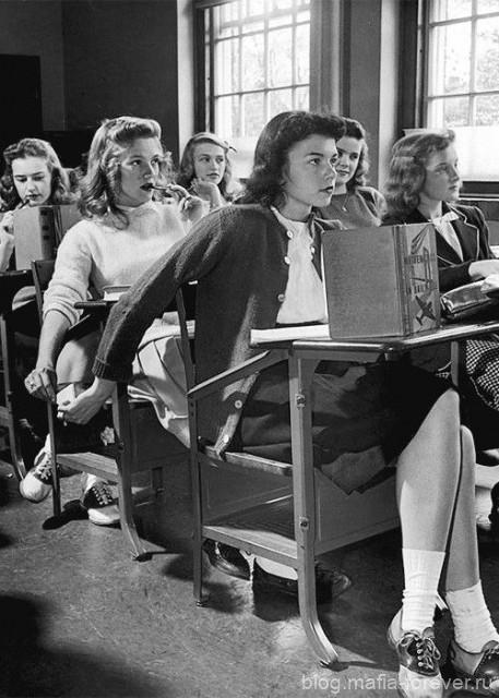 Старшеклассницы, США, 1940-е