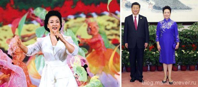 Си Цзиньпин с женой Пэн Лиюань