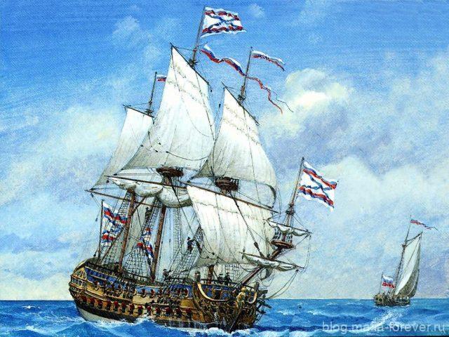 Судно Орёл представляло собой совершенный по тем временам корабль.